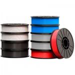 Filamento 1.75mm ABS Pack com 10 (900g cada) Vermelho/Azul/Branco/Preto  - MP06973
